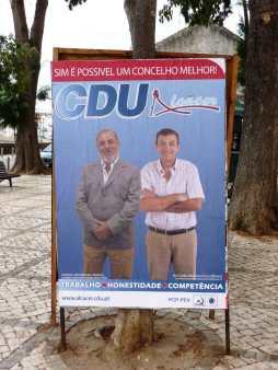 Cartaz da CDU, autárquicas, Alcácer do Sal, 13 Set. 2009