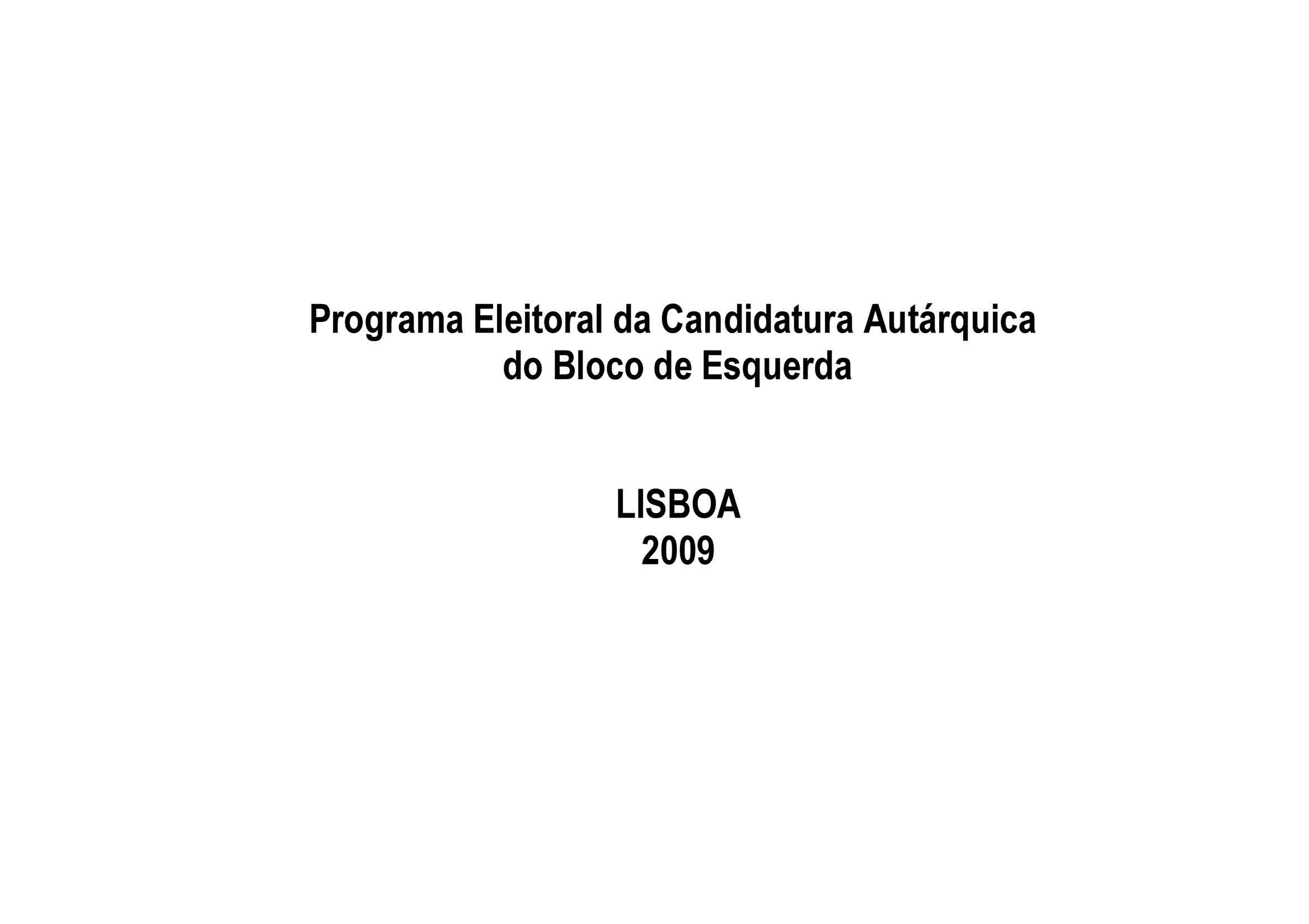 Copy of Programa BE Lisboa 2009