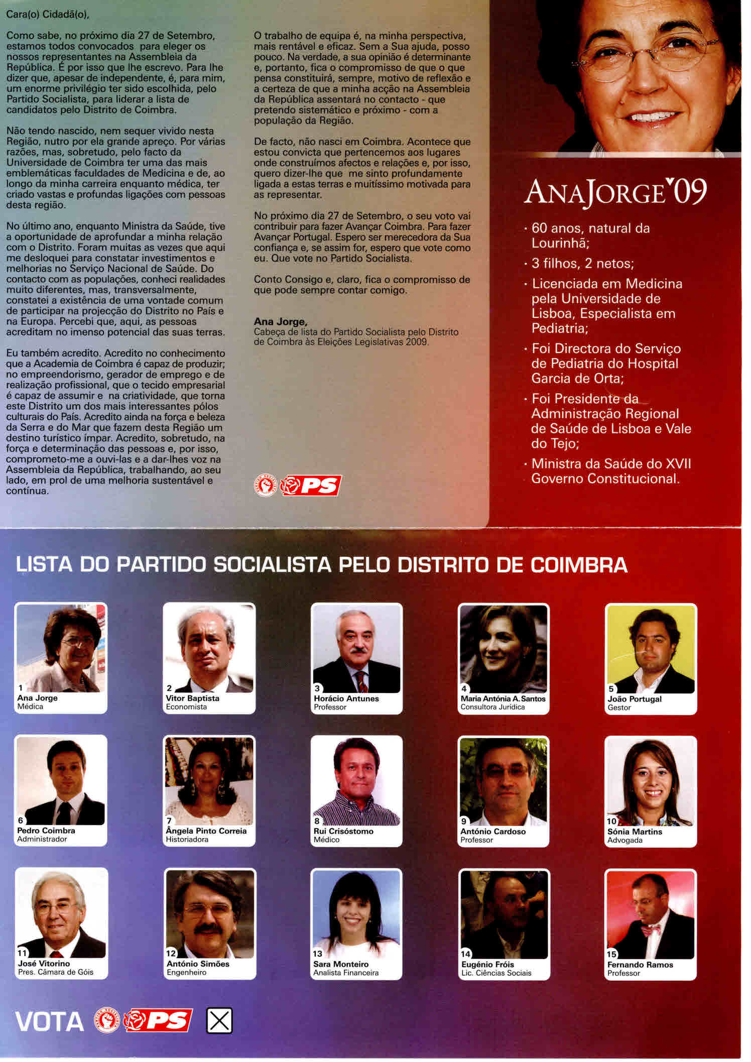 Avançar Coimbra – Ana Jorge – PS (2)