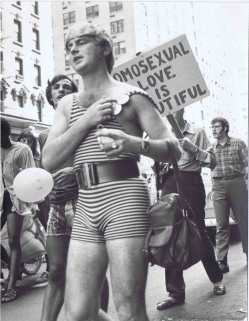 Gay Liberation 1973 Marcher Wild Seventies Attire