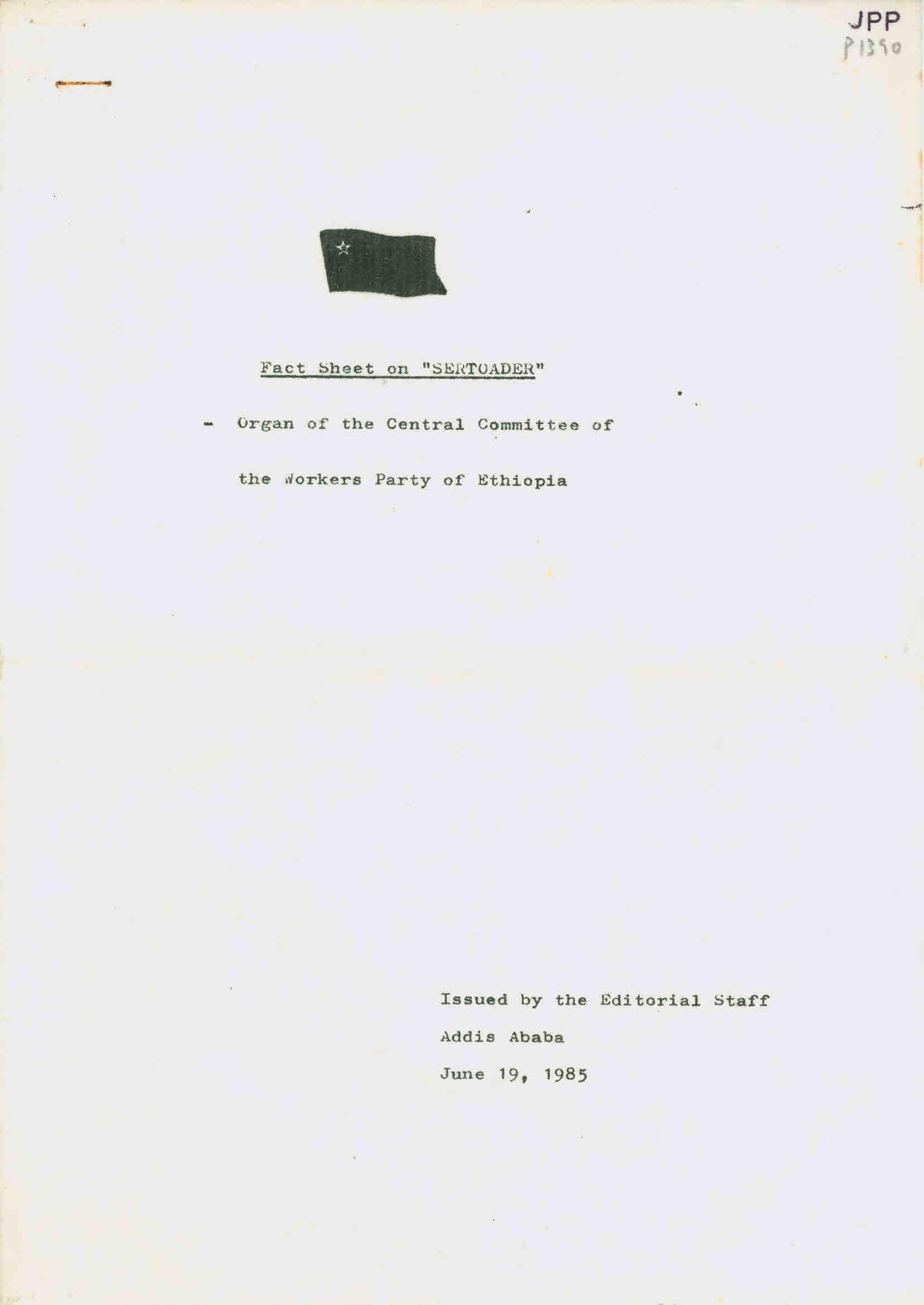 Copy of Fact Sheet on SERTOADER