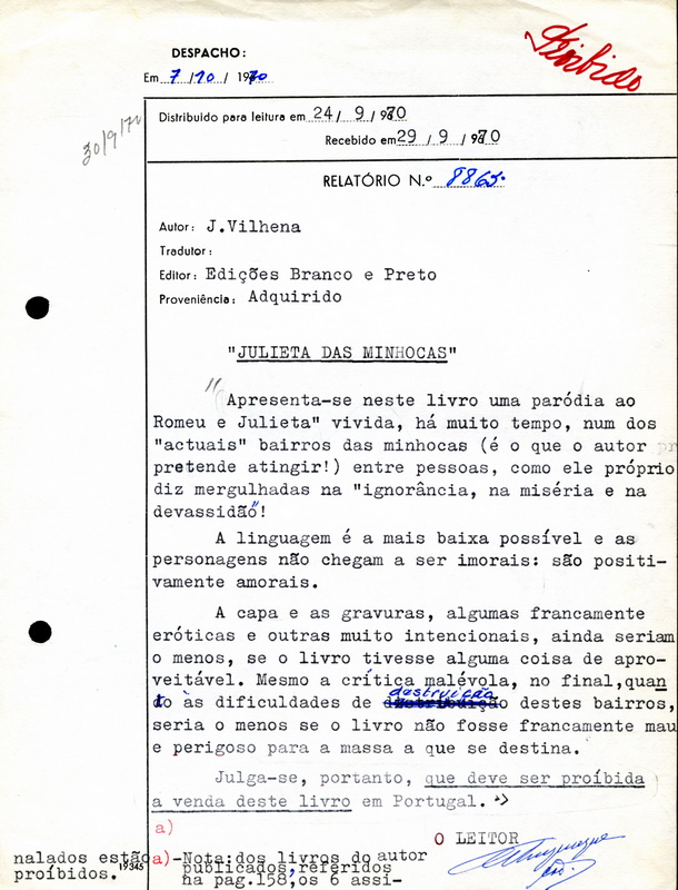 Censura relatrio n 8865 7 de outubro de 1970 relativo a carregue fandeluxe Image collections