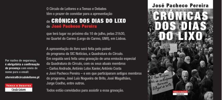 Convite_Cronicas dos dias do lixo