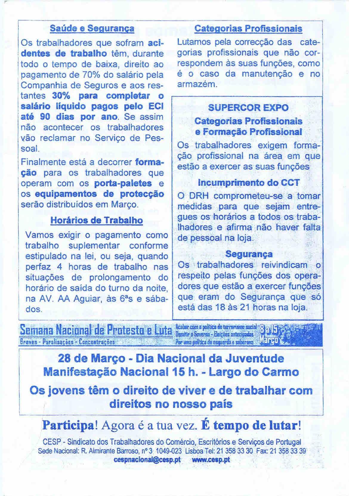 TRABALHADORES DE EL CORTE INGLES – EPHEMERA ... 69dd36df28ad7