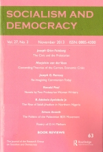 socialism and democracy, vol 27 november 2013