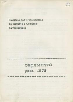 SINDICATOdosTRABALHADORESdaINDUSTRIAeCOMERCIO_FARMACEUTICOS_ORÇAMENTOpara1978