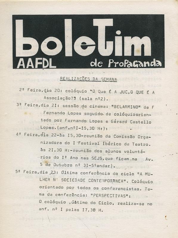 AAFDL_BOLETIMdePROPAGANDA_REALIZAÇOESdaSEMANA