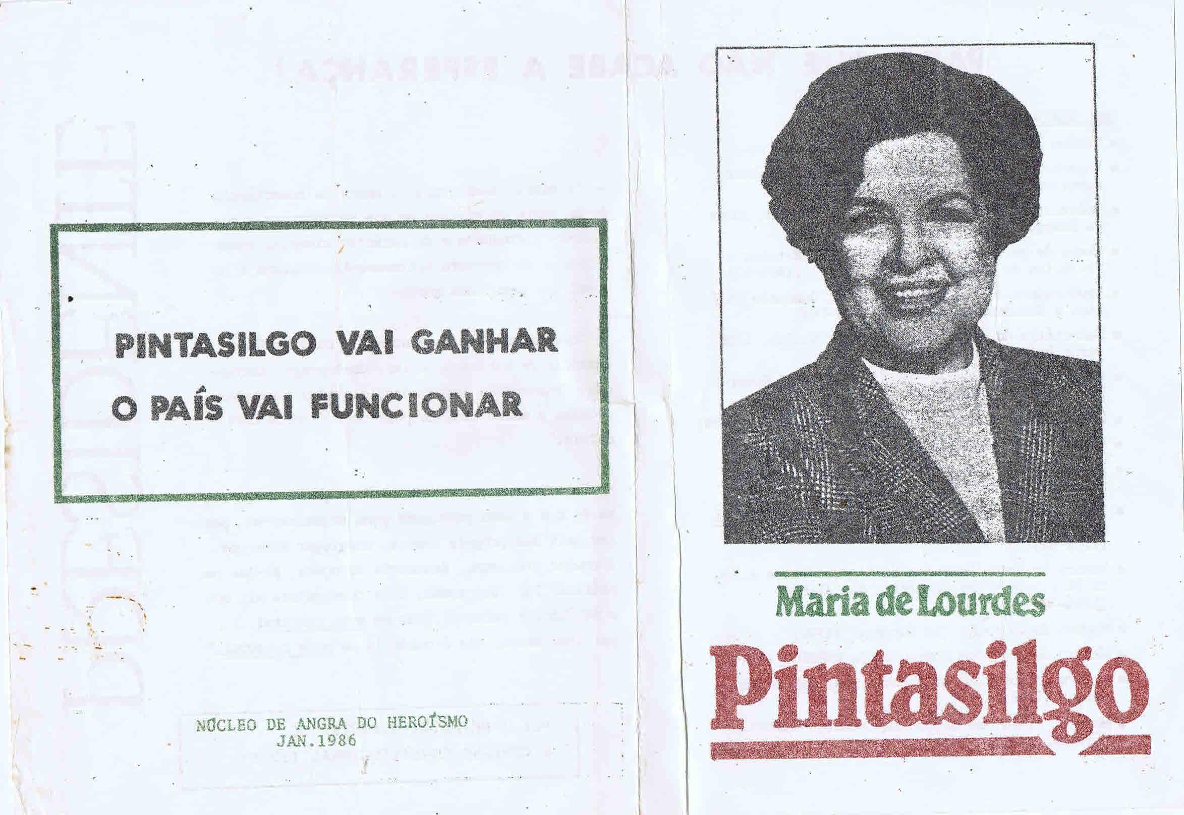 Eleies presidenciais de 1985 6 candidatura de maria de lourdes panfletos fandeluxe Choice Image