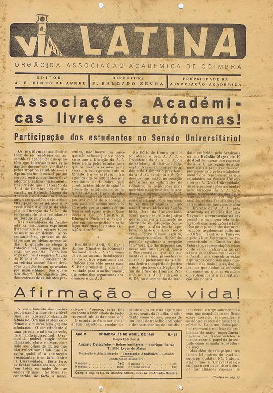 VIA_LATINA_ORGAOdaAACOIMBRA19ABR1945