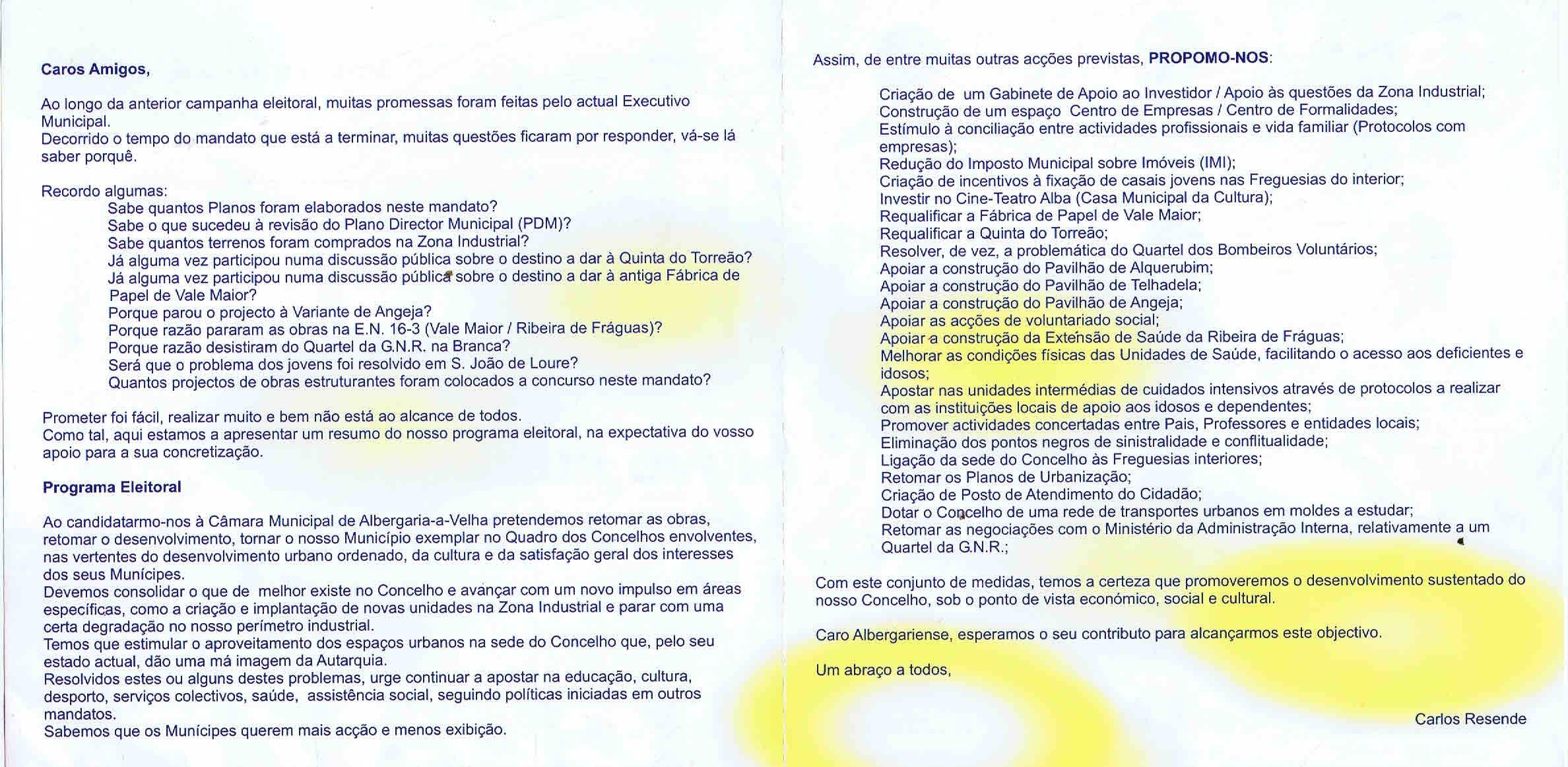 09fe00b7d6093 ELEIÇÕES AUTÁRQUICAS DE 2005 – ALBERGARIA-A-VELHA – CDS – EPHEMERA ...