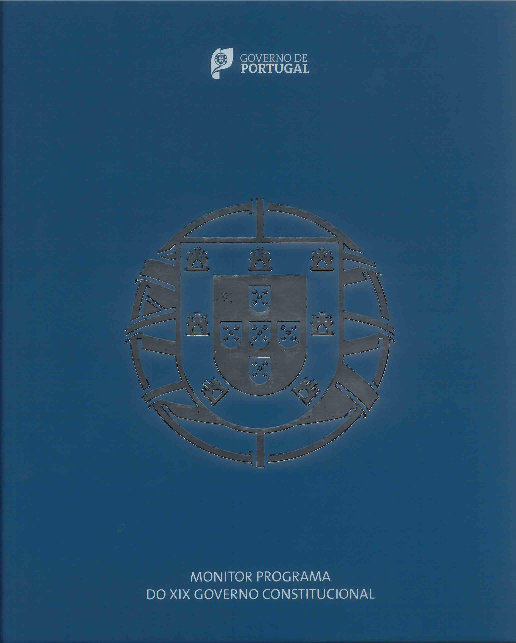 Monitor Programa do XIX Governo Constitucional