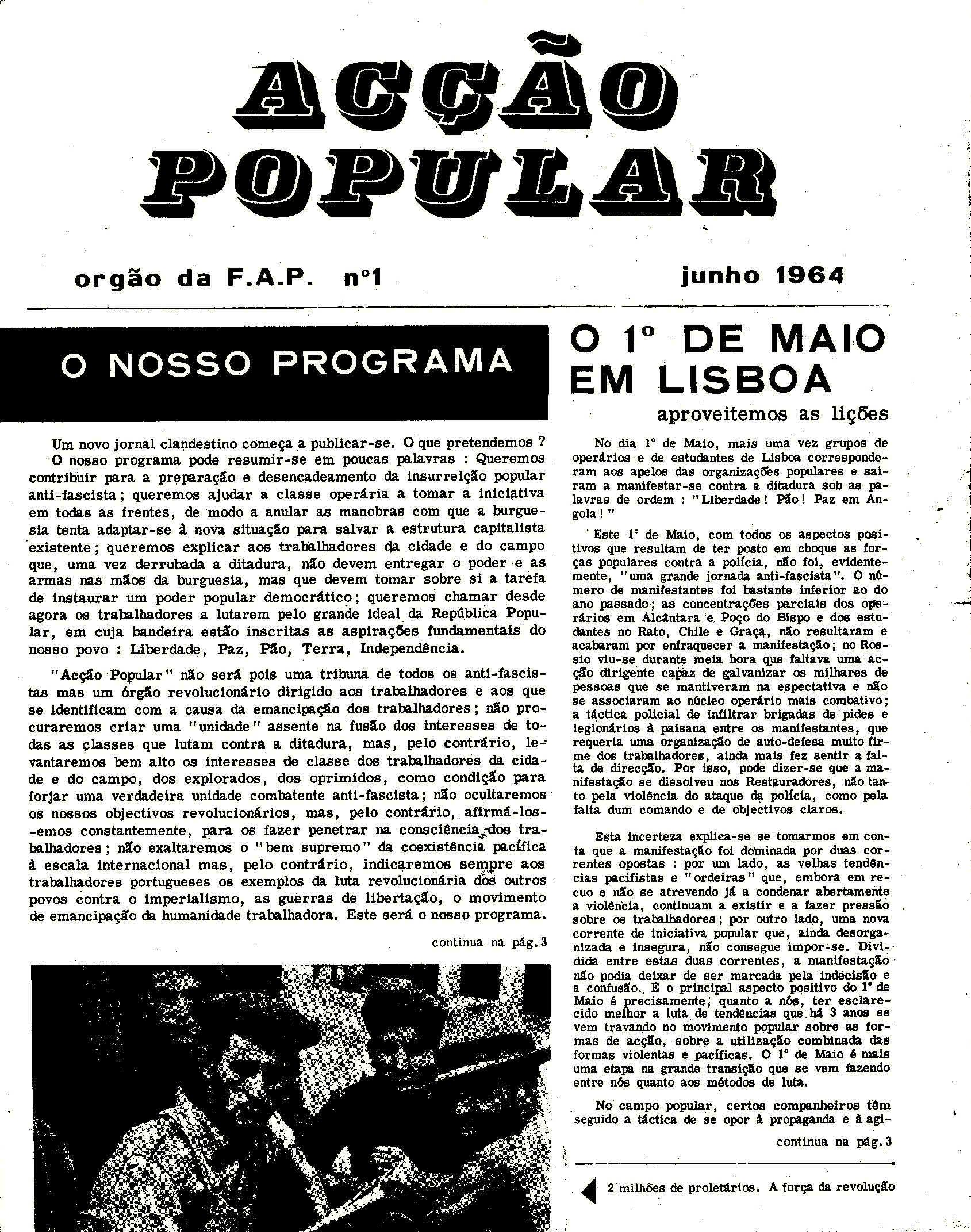 Copy of Acção Popular n. 1