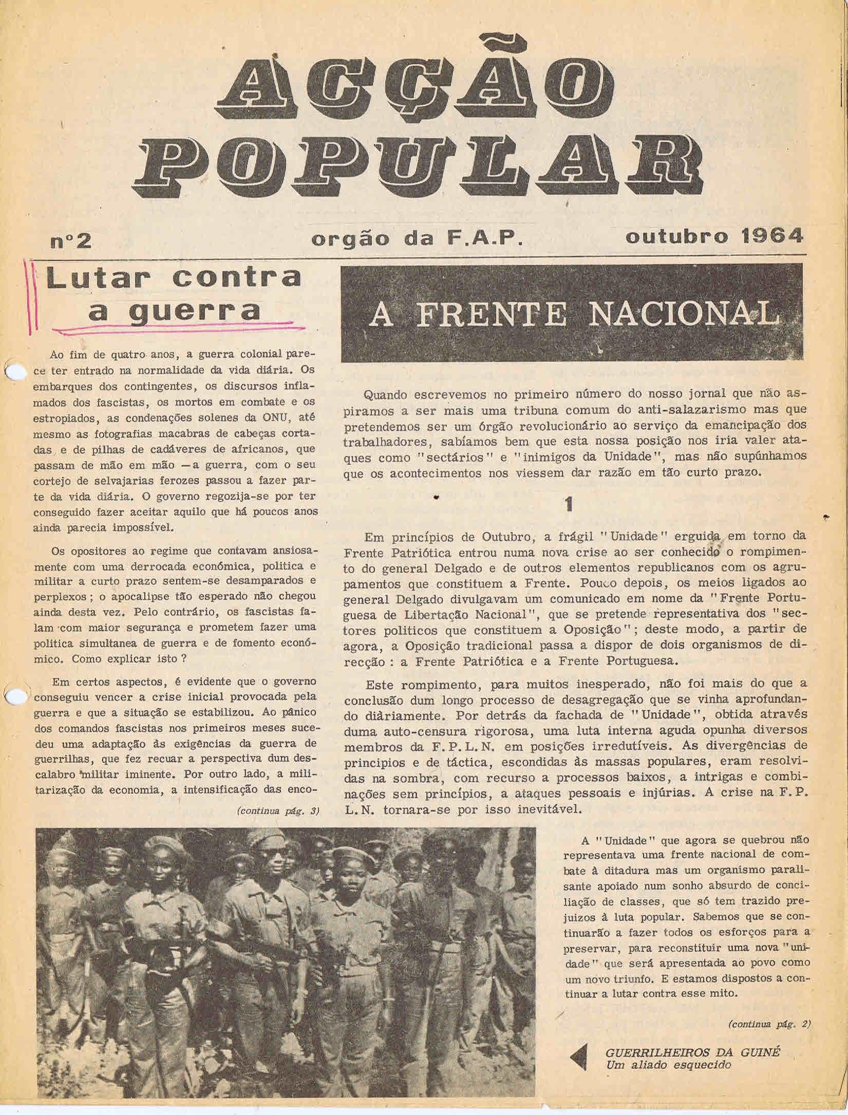 ACÇÃO POPULAR – EPHEMERA – Biblioteca e arquivo de José ... d80865dcb5621
