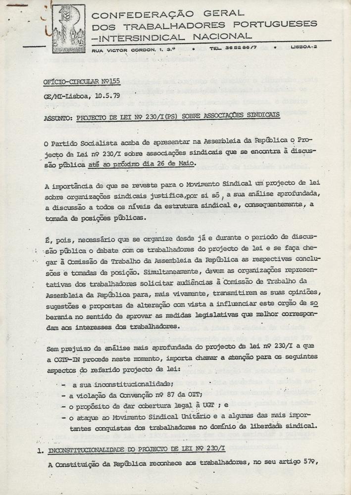 UNIAOdosSINDICATOSdeLISBOA_OFICIO_CIRCULAR_N155