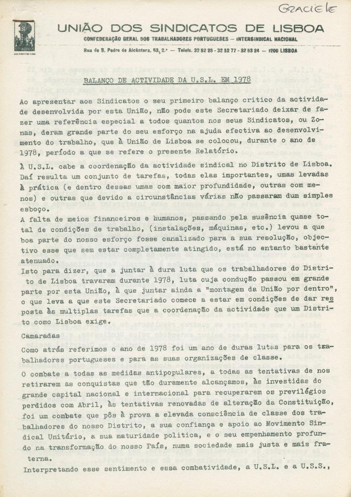 USL_BALANÇOdeACTIVIDADEdaUSLem1978