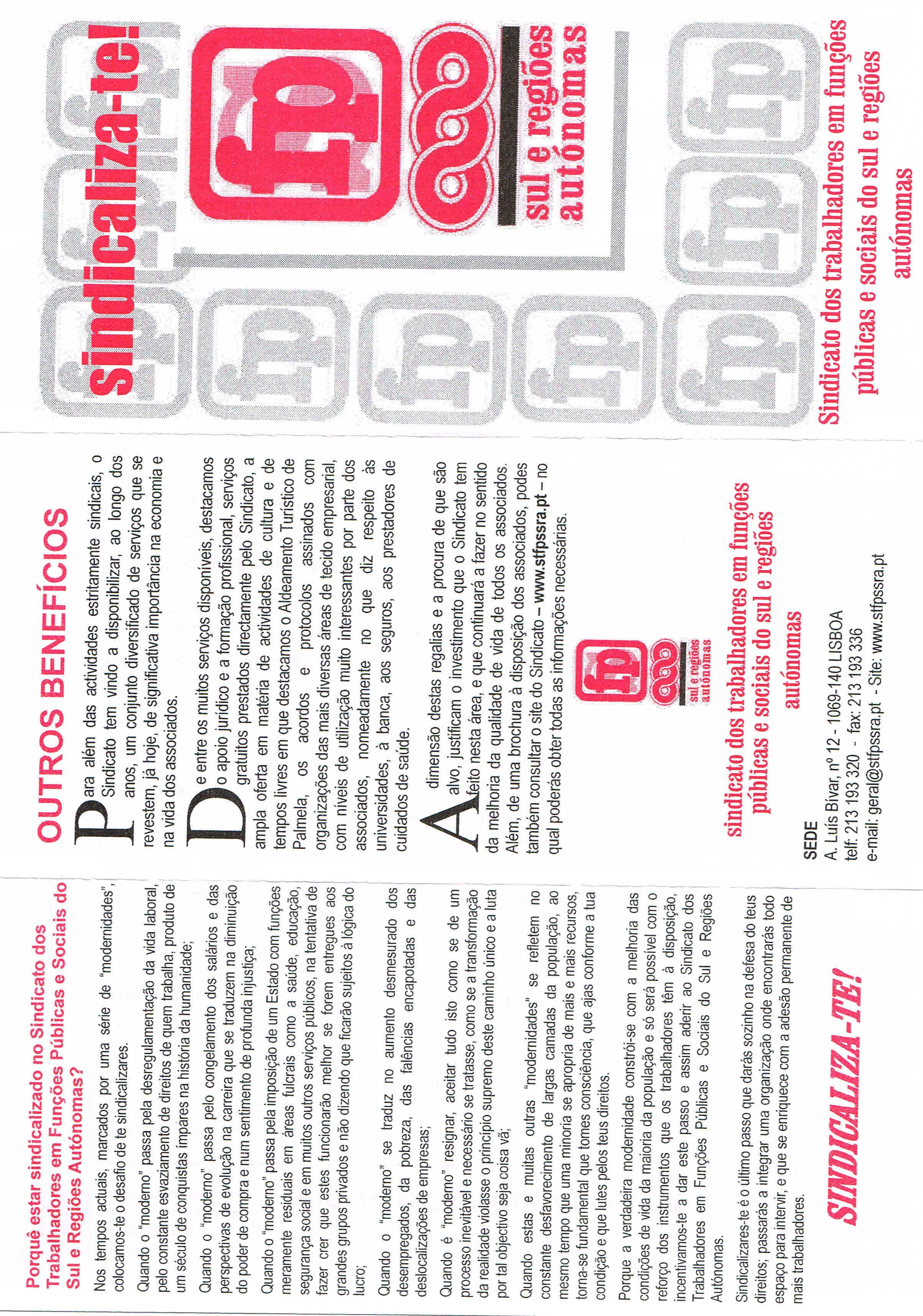 Sindicato dos trabalhadores da funo pblica da zona sul e aores sindicato dos trabalhadores da funo pblica da zona sul e aores 2016 ephemera biblioteca e arquivo de jos pacheco pereira fandeluxe Gallery