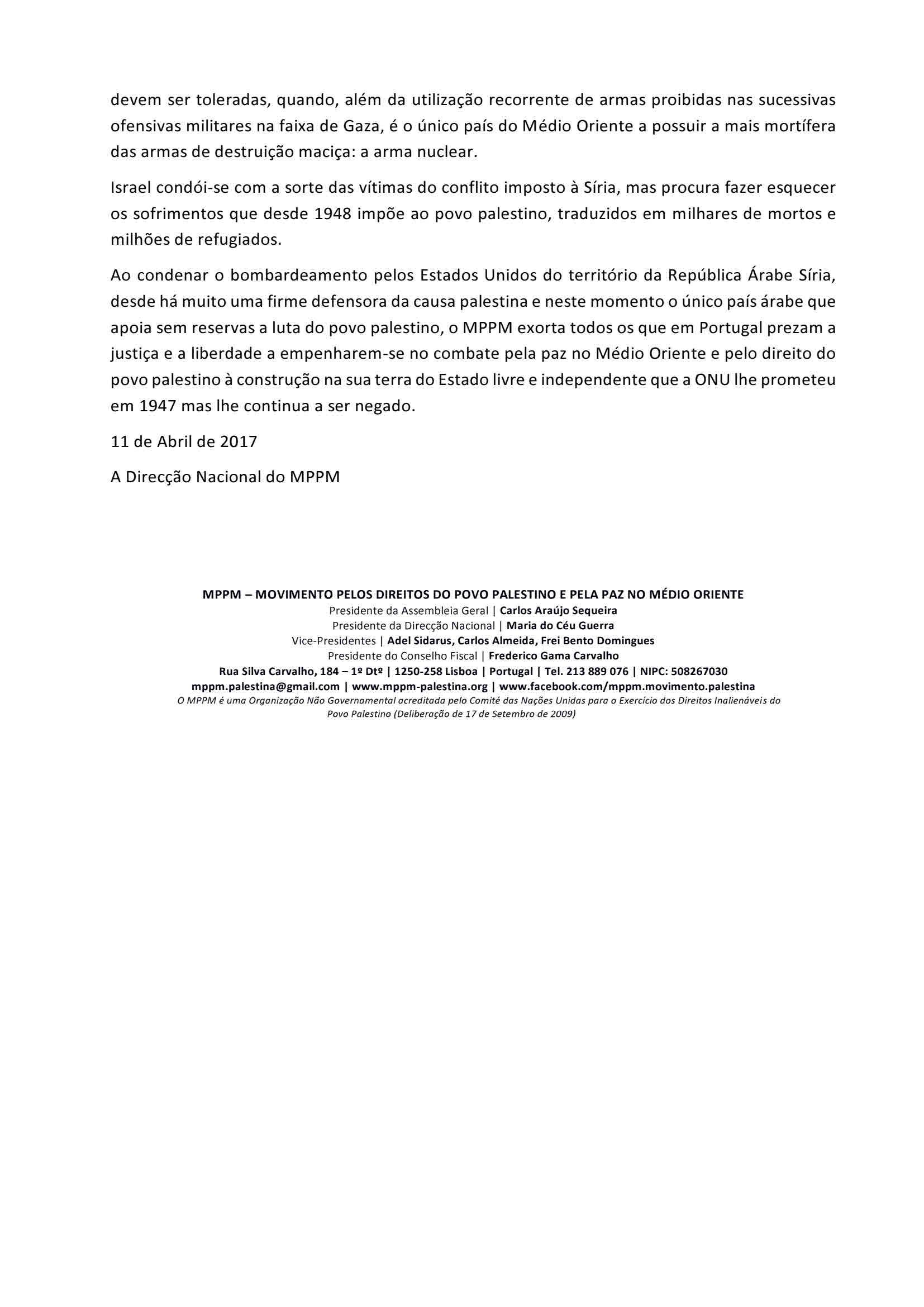 Comunicado 08-2017 – MPPM condena bombardeamento americano da Síria (2)