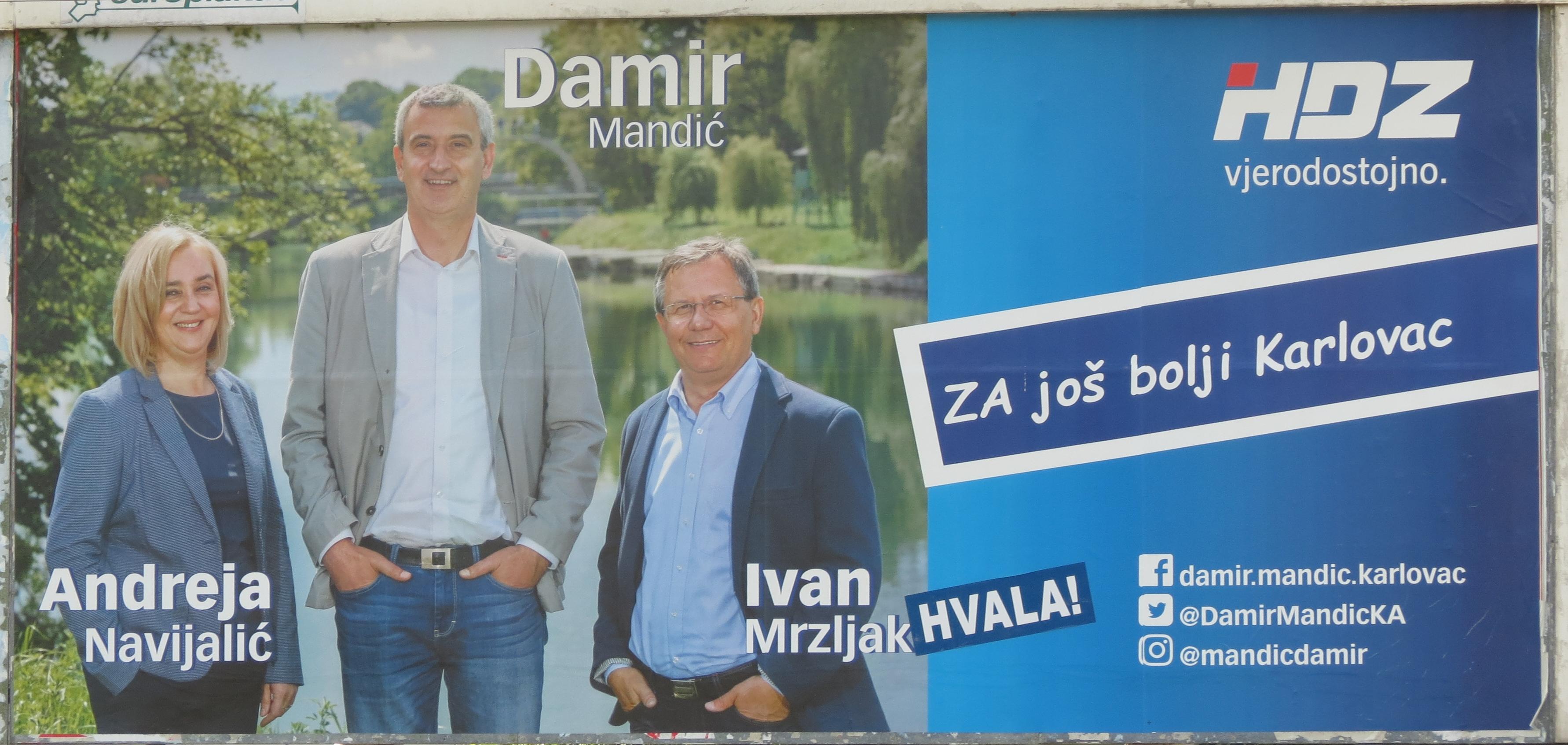 Cidade de Karlovac – Hrvatska demokratska zajednica (HDZ; União Democrata Croata)