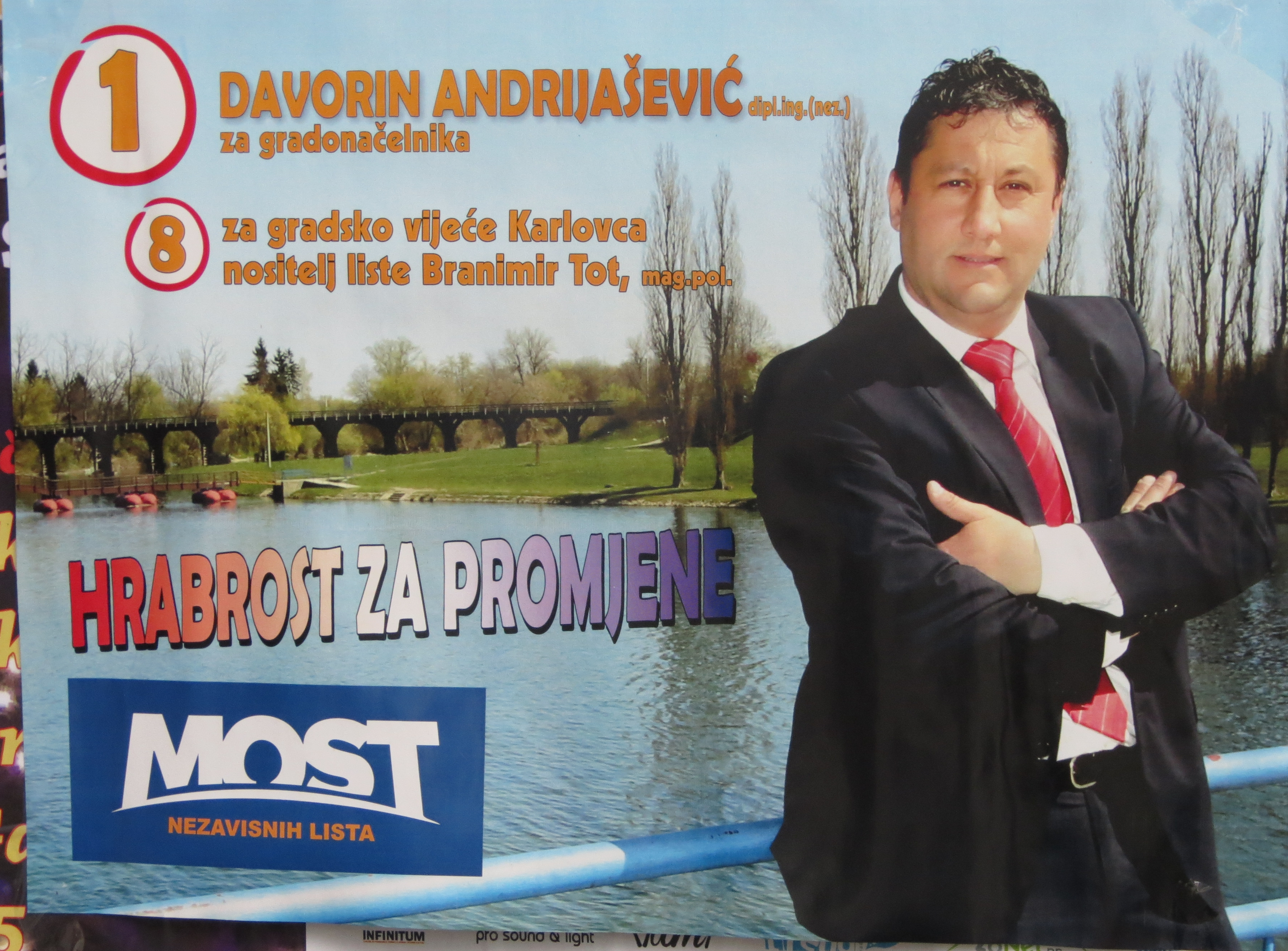 Cidade de Karlovac – Ponte de Listas Independentes (MOST)